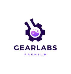 Gear lab labs logo icon vector