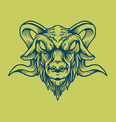 goat head design style vintage vector image