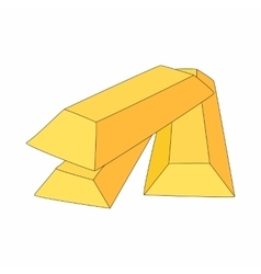 Gold bars icon in cartoon style vector image