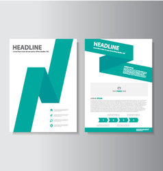 Green brochure flyer leaflet presentation template vector