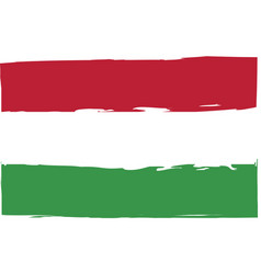 grunge hungary flag or banner vector image