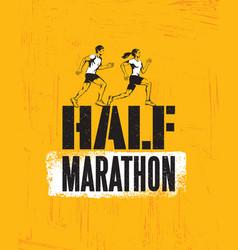 half marathon active sport event advertisement vector image
