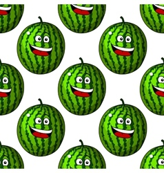Happy laughing watermelon fruits vector image