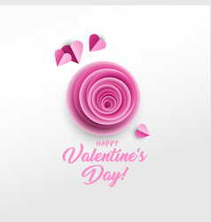 happy valentine s day greeting card design vector image