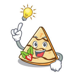 Have an idea crepe mascot cartoon style vector