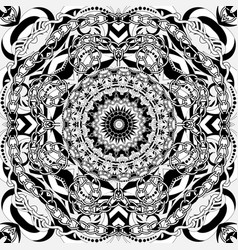 Intricate black and white abstract seamless vector