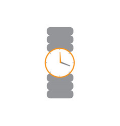 isolated wristwatch icon vector image