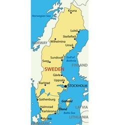 Kingdom of Sweden - map vector image
