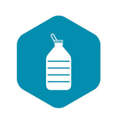 large bottle of water icon simple style vector image