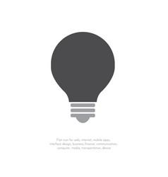 light bulb icon flat design 11 vector image
