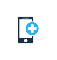 Medical mobile logo icon design vector