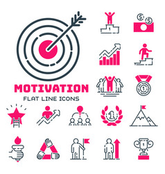 motivation concept chart pink icon business vector image