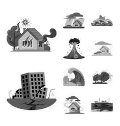 natural and disaster symbol vector image