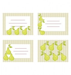 pear cards vector image vector image