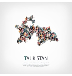 People map country Tajikistan vector