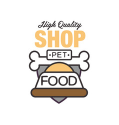 Pet shop high quality food logo template design vector