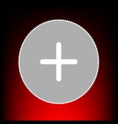 positive symbol plus vector image