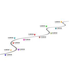 Railway timeline 3d vector