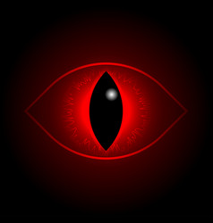 red dragon eye vector image
