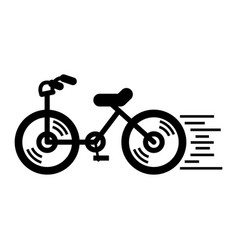 running bicycle icon simple style vector image