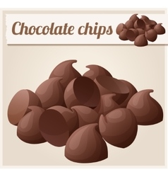 Semisweet chocolate chips Detailed Icon vector