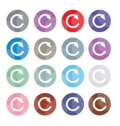 Set of 16 Reset Icons or Reload Buttons vector
