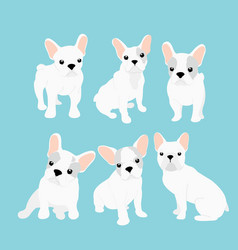 set of cute little french vector image