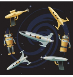space junk vector image