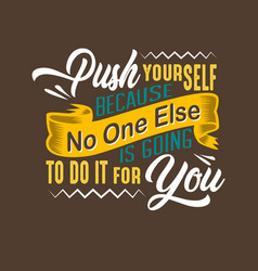 success quote and saying good for print design vector image
