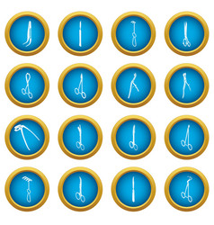 surgeons tools icons set simple style vector image