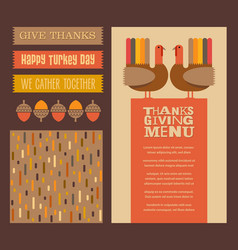 thanksgiving and autumn design elements vector image