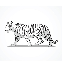 tiger side 2 vector image