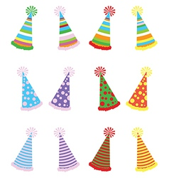 Various Party Hats PackVS vector image