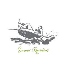 water sea summer attraction banana vector image