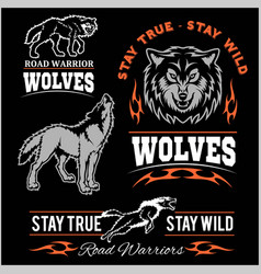 Wolves patch - set vector