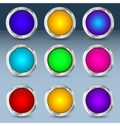 Colorful set of circle buttons vector image