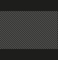 Dark abstract background black and white striped vector