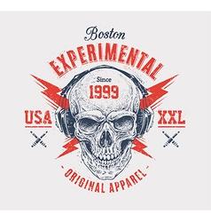 Grunge Skull Print vector image vector image
