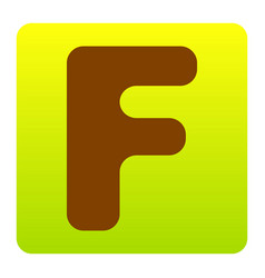 letter f sign design template element vector image