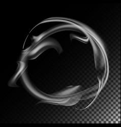 realistic cigarette smoke waves 3d vector image