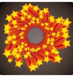 stars swirl vector image vector image