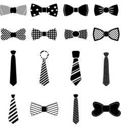Bow tie icons set vector image vector image