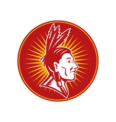 native American indian chief vector image vector image