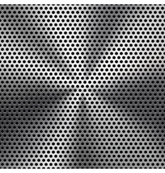 Seamless Circle Perforated Metal Grill Texture vector image vector image