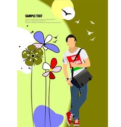 al 0709 man poster 023 vector image vector image