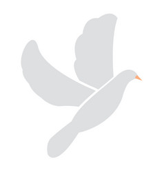 isolated dove icon vector image