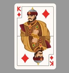King of diamonds playing card vector image vector image