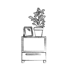 monochrome blurred silhouette of decorative vector image vector image