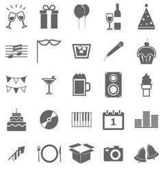 New Year icons on white background vector image