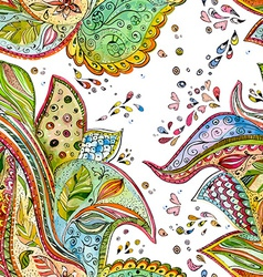 seamless texture with magic pattern watercolor vector image